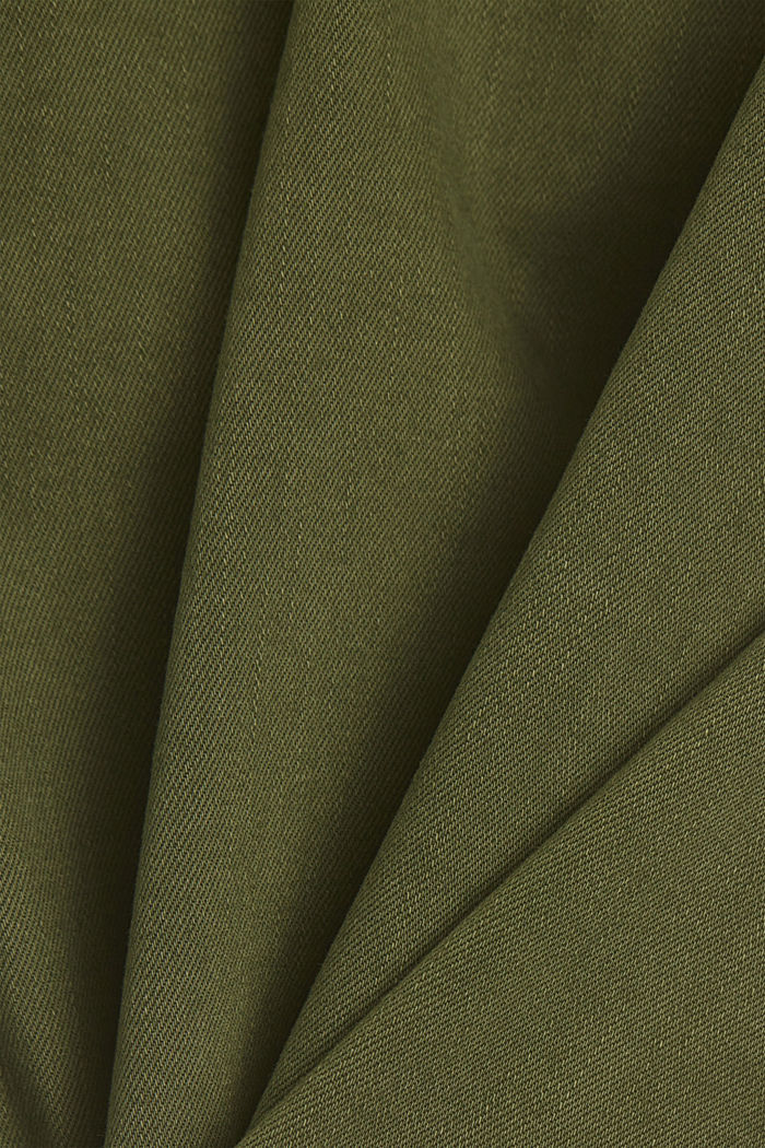 Organic cotton capri trousers, KHAKI GREEN, detail image number 4