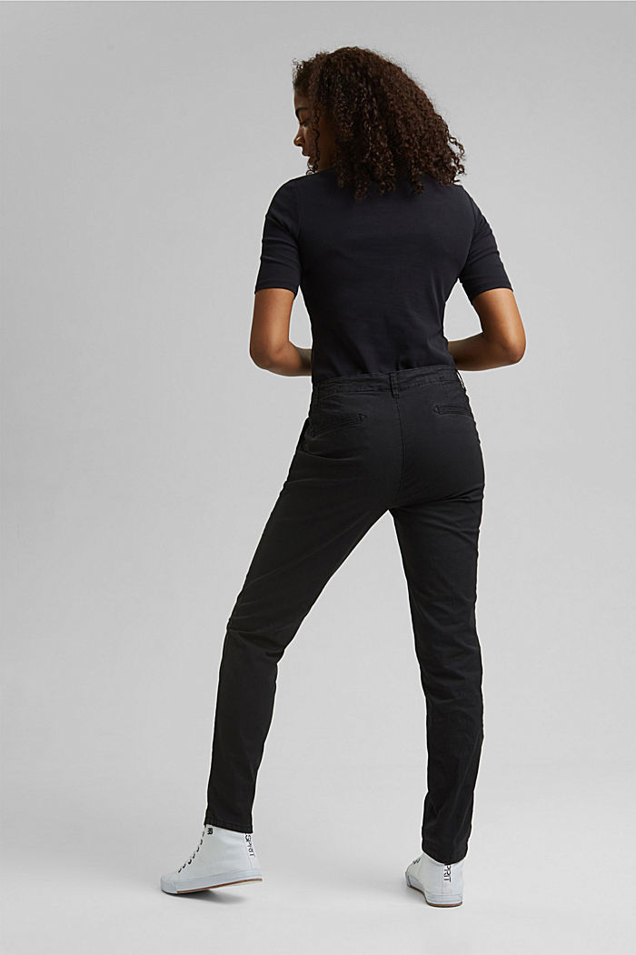 Trousers, BLACK, detail image number 3