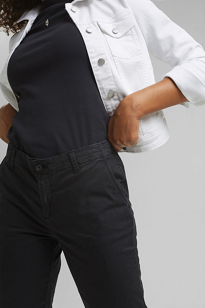 Trousers, BLACK, detail image number 2
