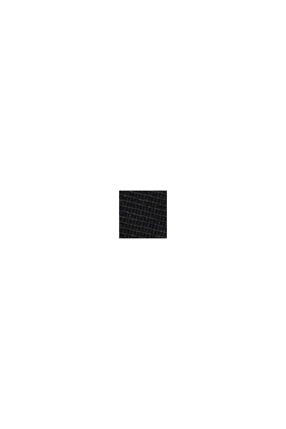 Strækbare chinobukser med økologisk pima-bomuld, BLACK, swatch