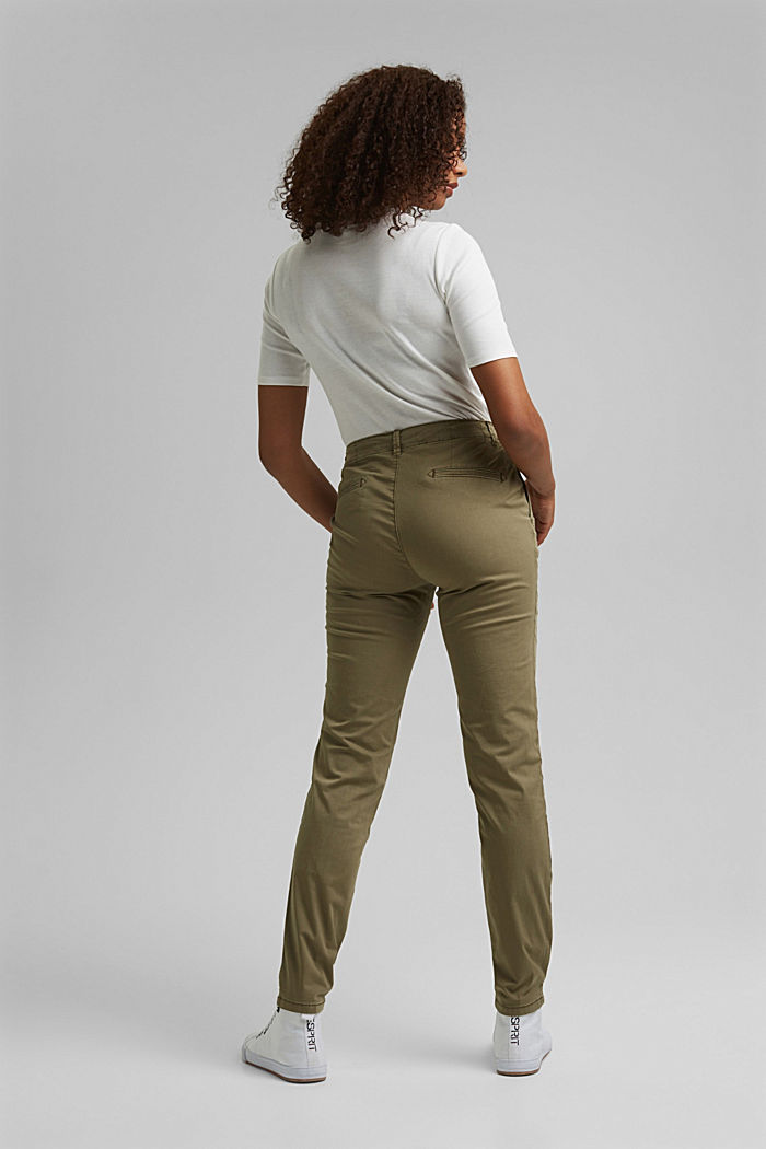 Stretch chinos containing pima organic cotton, LIGHT KHAKI, detail image number 3