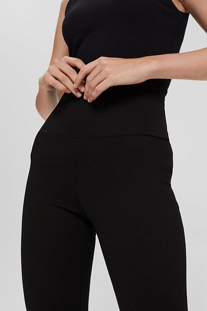 Leggings en jersey punto, LENZING™ ECOVERO™, BLACK, detail image number 2