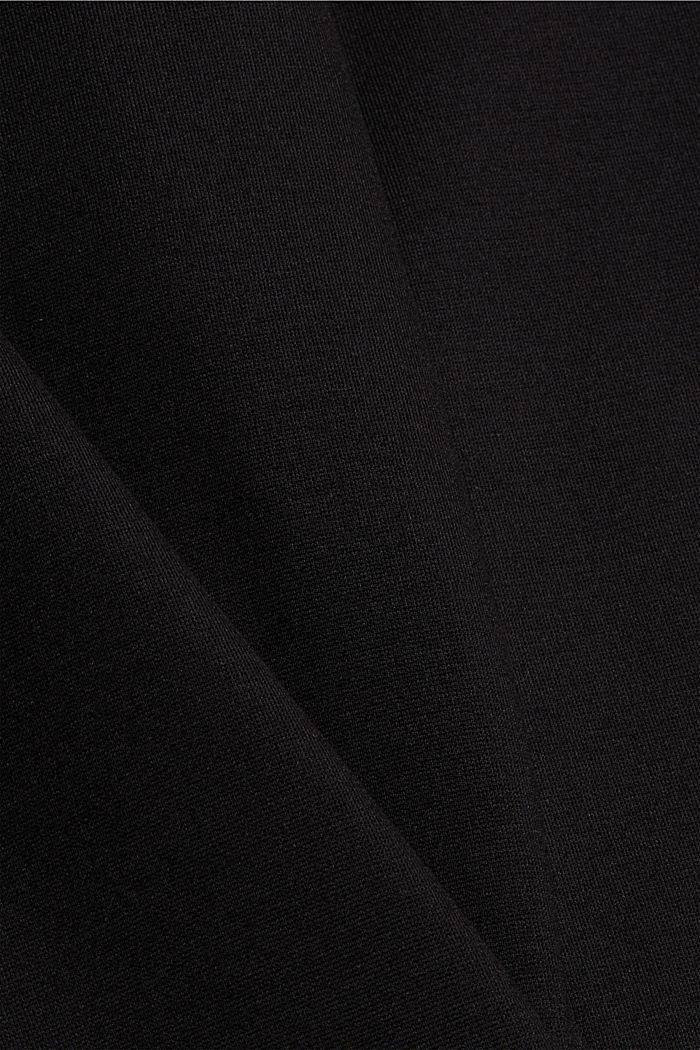 Leggings en jersey punto, LENZING™ ECOVERO™, BLACK, detail image number 4