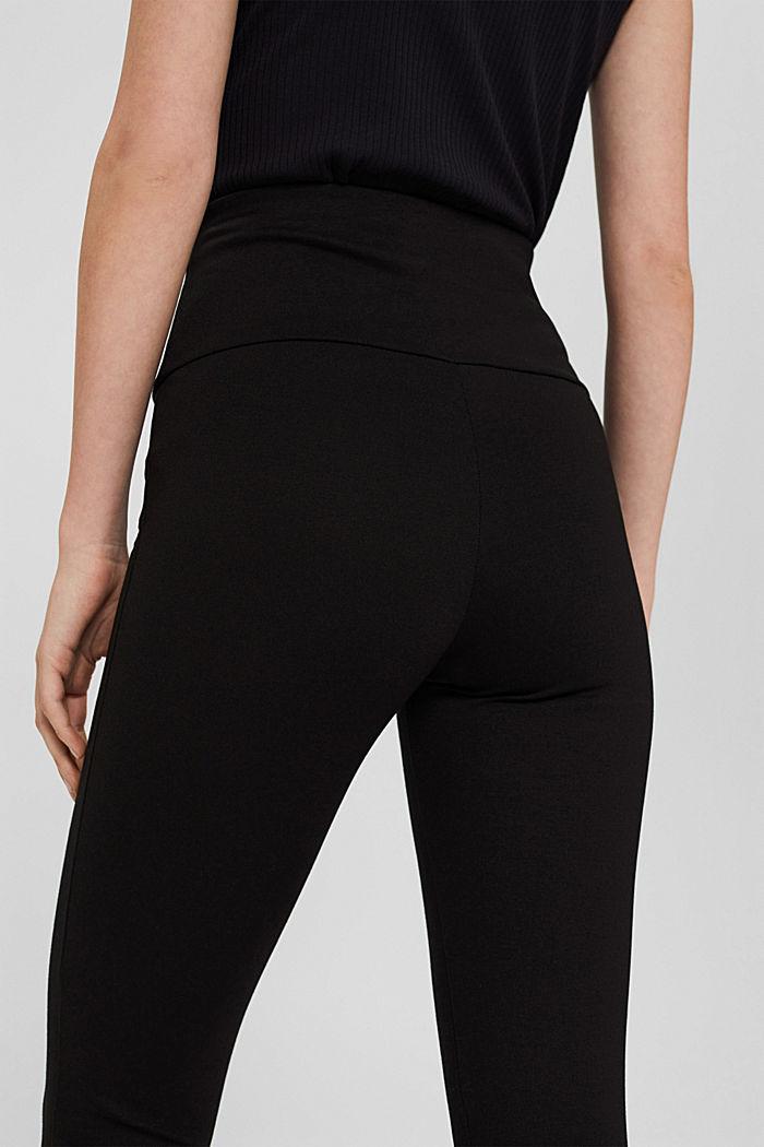 Leggings en jersey punto, LENZING™ ECOVERO™, BLACK, detail image number 5