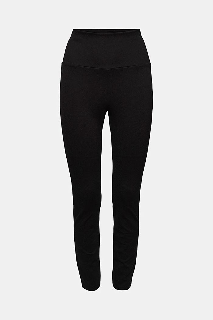 Leggings en jersey punto, LENZING™ ECOVERO™, BLACK, detail image number 6
