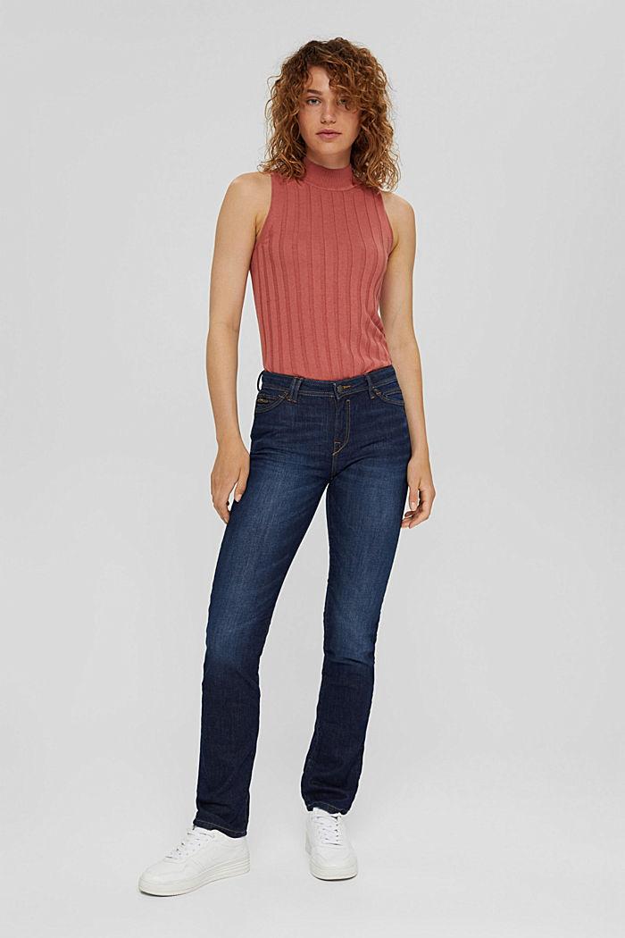 Denim jeans made of organic cotton, BLUE DARK WASHED, detail image number 1