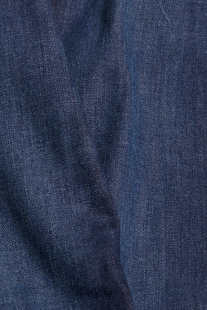 Denim jeans made of organic cotton, BLUE DARK WASHED, detail image number 4