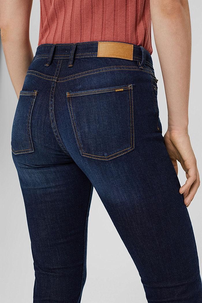 Denim jeans made of organic cotton, BLUE DARK WASHED, detail image number 5
