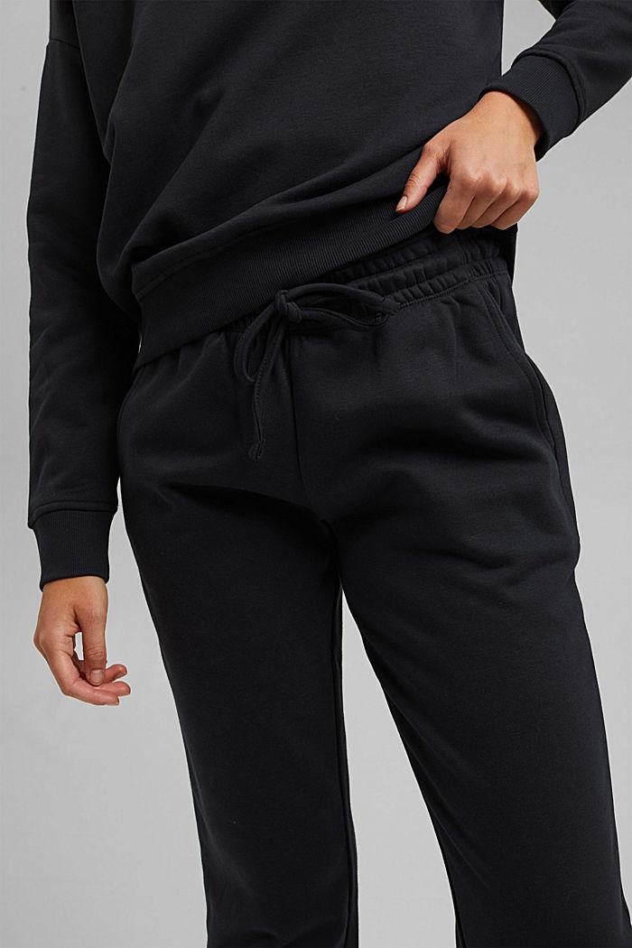 Tracksuit bottoms made of blended organic cotton, BLACK, detail image number 2