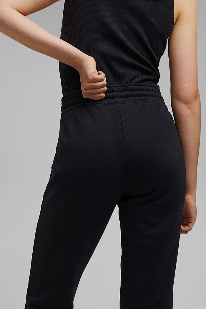 Tracksuit bottoms made of blended organic cotton, BLACK, detail image number 5