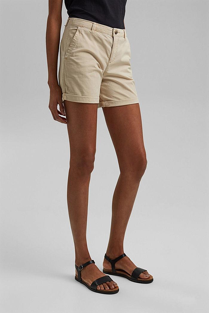 Chino-Shorts aus Pima Bio-Baumwolle/Stretch, BEIGE, detail image number 0