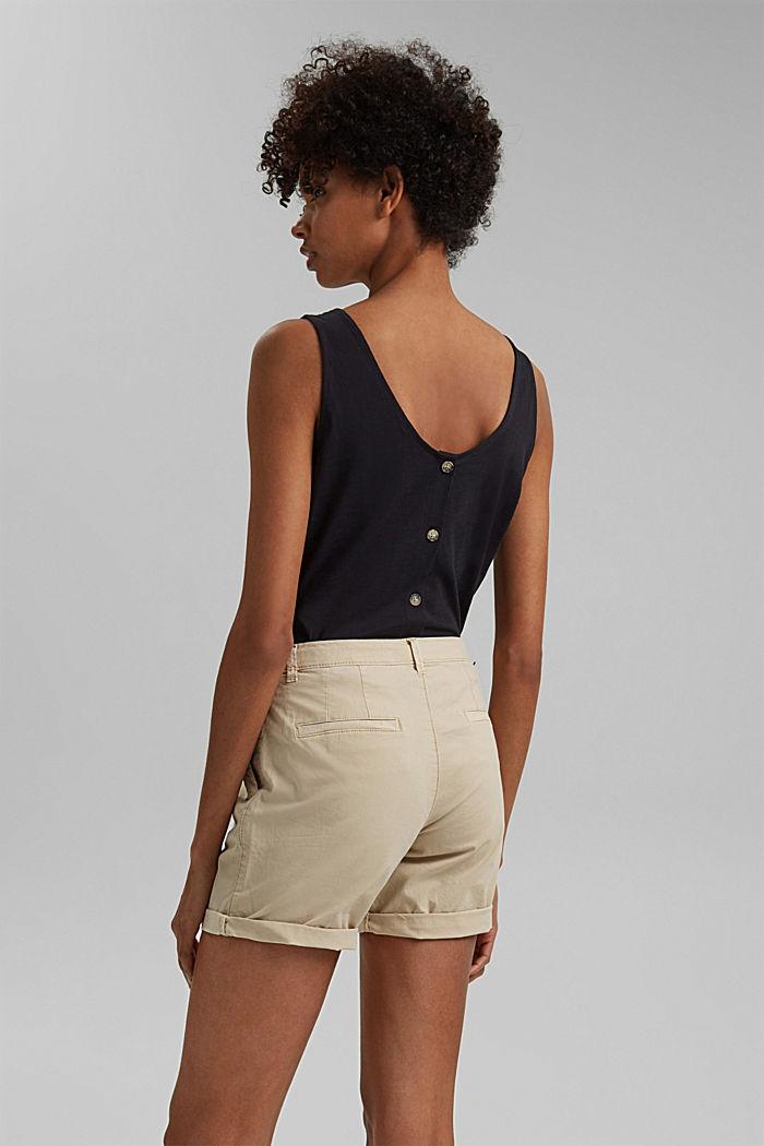 Chino-Shorts aus Pima Bio-Baumwolle/Stretch, BEIGE, detail image number 3