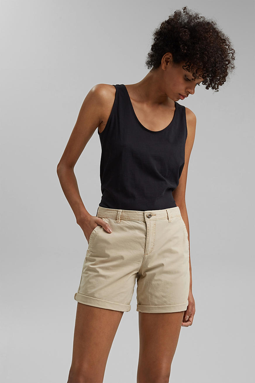 Chino shorts made of stretch pima organic cotton