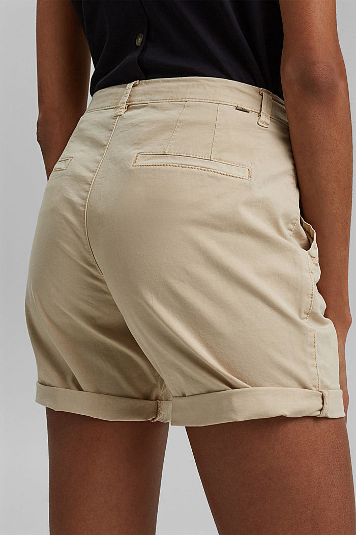 Chino shorts made of stretch pima organic cotton, BEIGE, detail image number 2