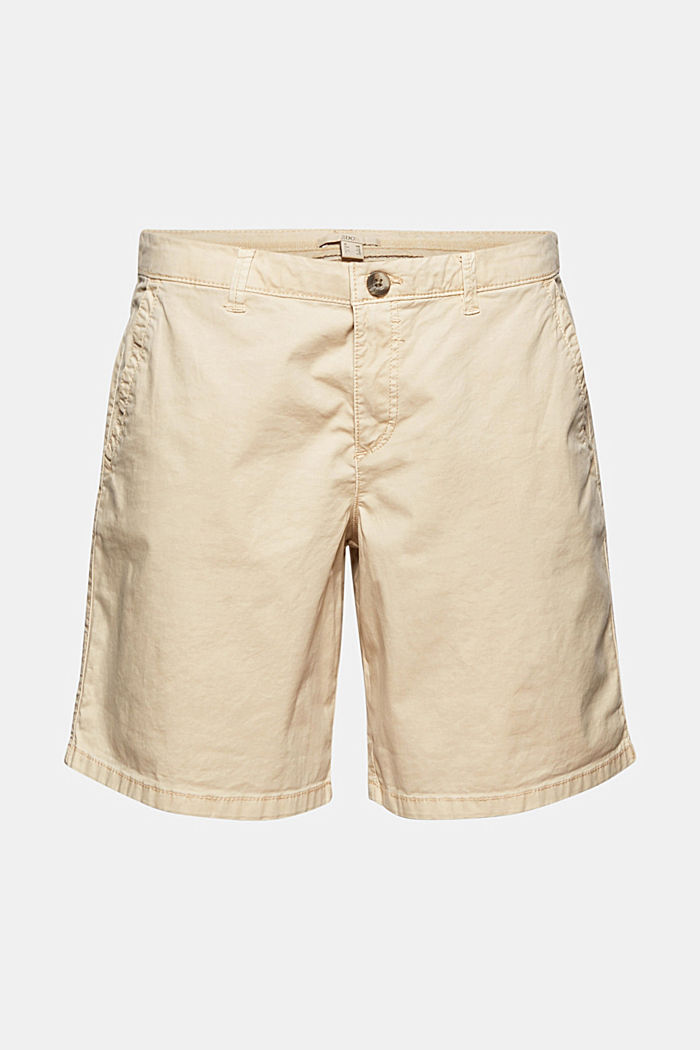Chino shorts made of stretch pima organic cotton, BEIGE, detail image number 8