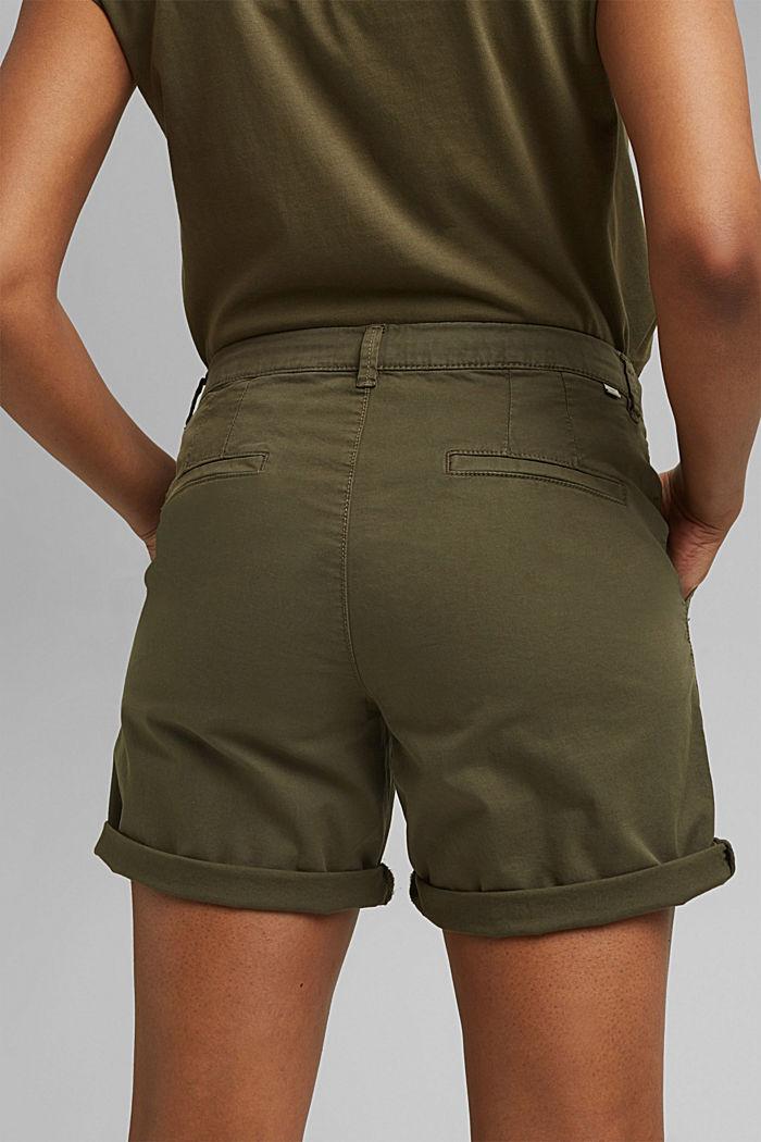 Chino shorts made of stretch pima organic cotton, KHAKI GREEN, detail image number 5