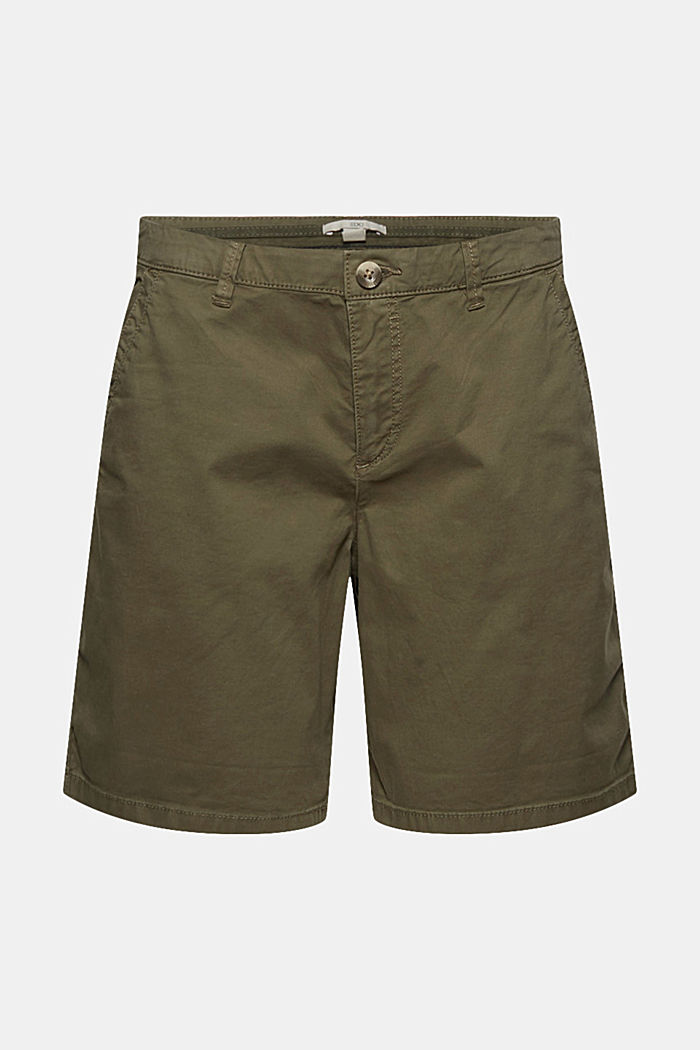 Chino-Shorts aus Pima Bio-Baumwolle/Stretch