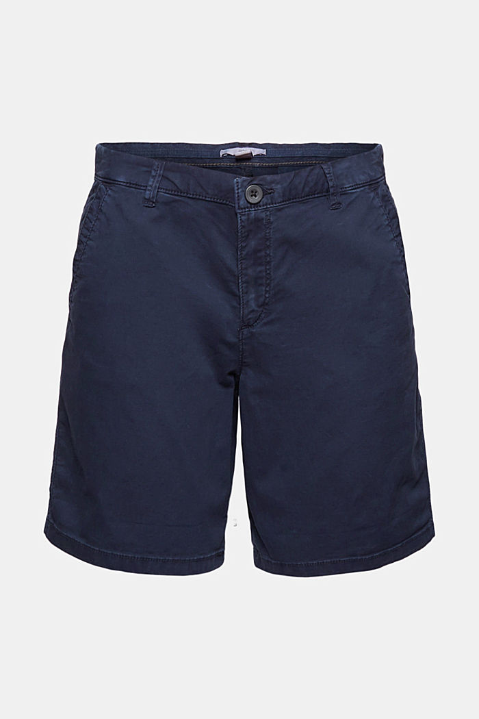 Chino shorts made of stretch pima organic cotton, NAVY, detail image number 7