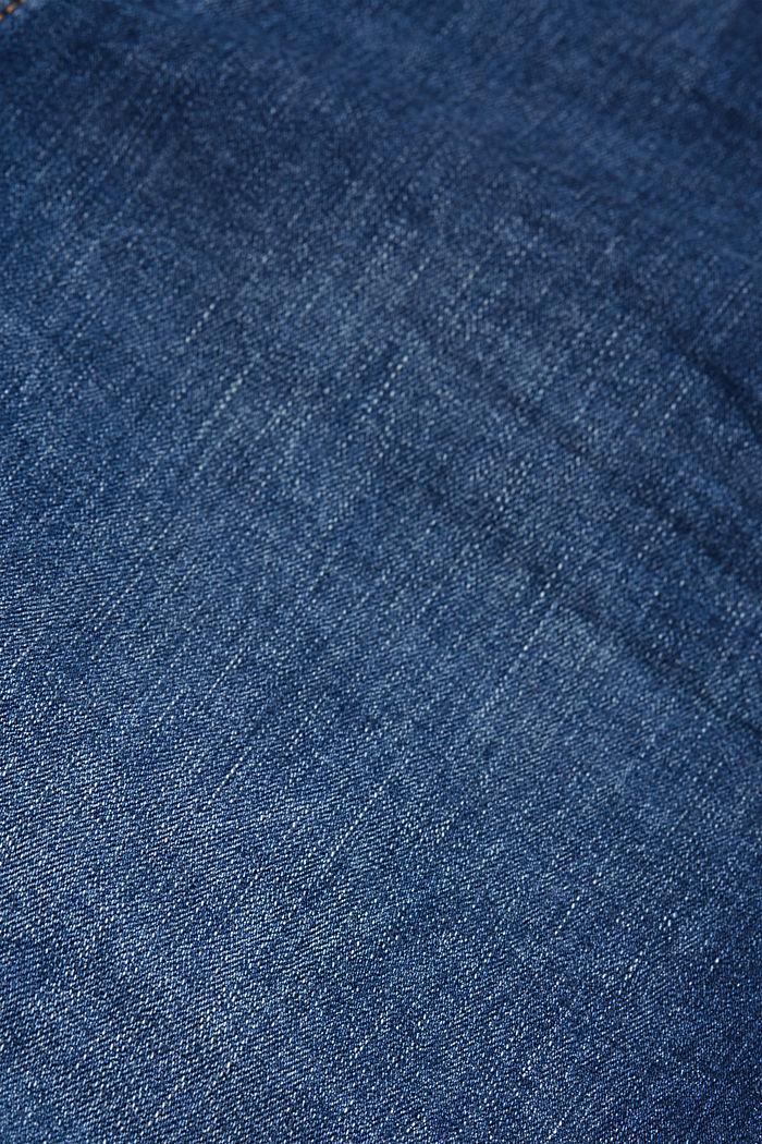 Shorts in denim elasticizzato, BLUE DARK WASHED, detail image number 4
