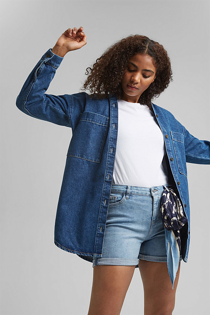 Shorts aus Stretch-Denim