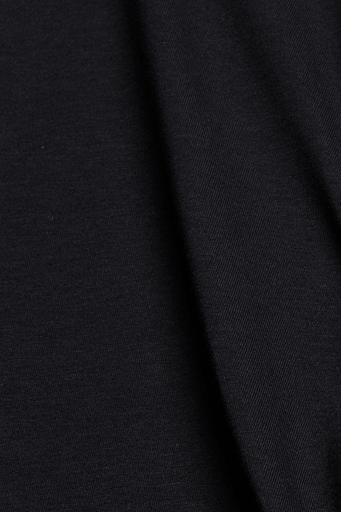 Jersey shorts made of organic cotton, BLACK, detail image number 4