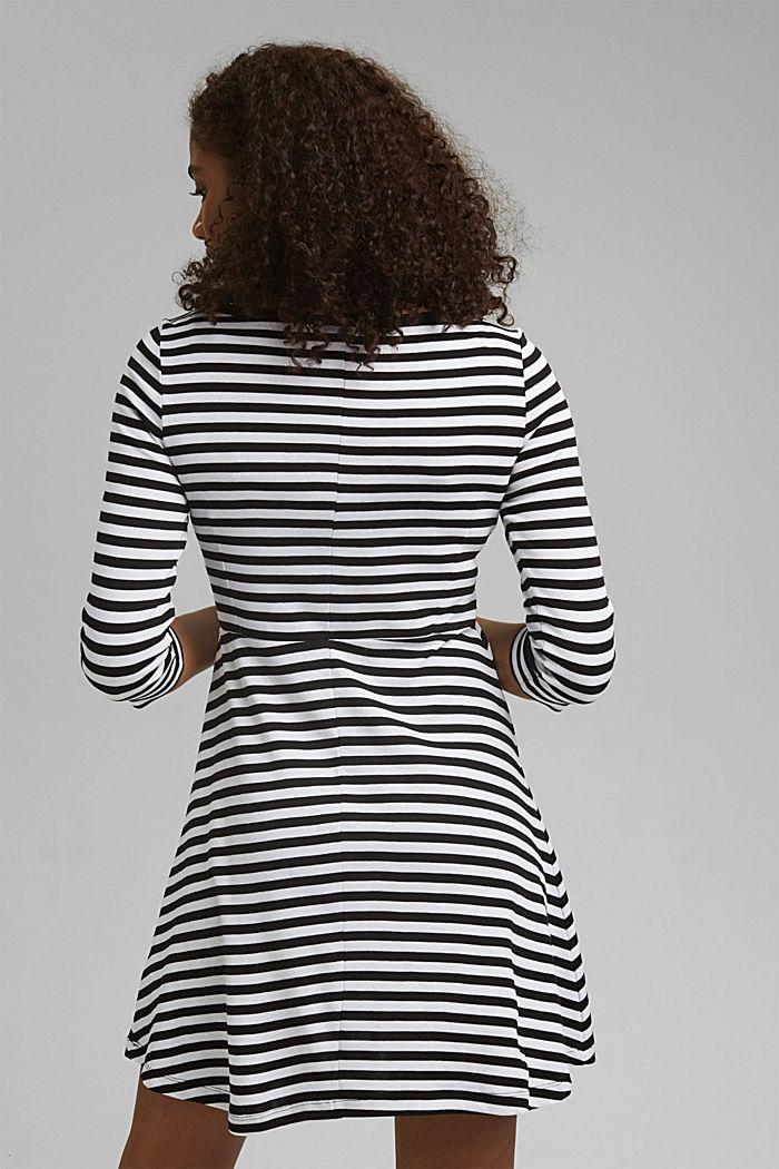 Striped jersey dress, 100% organic cotton, BLACK, detail image number 2