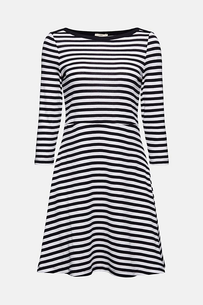 Striped jersey dress, 100% organic cotton, NAVY, detail image number 6