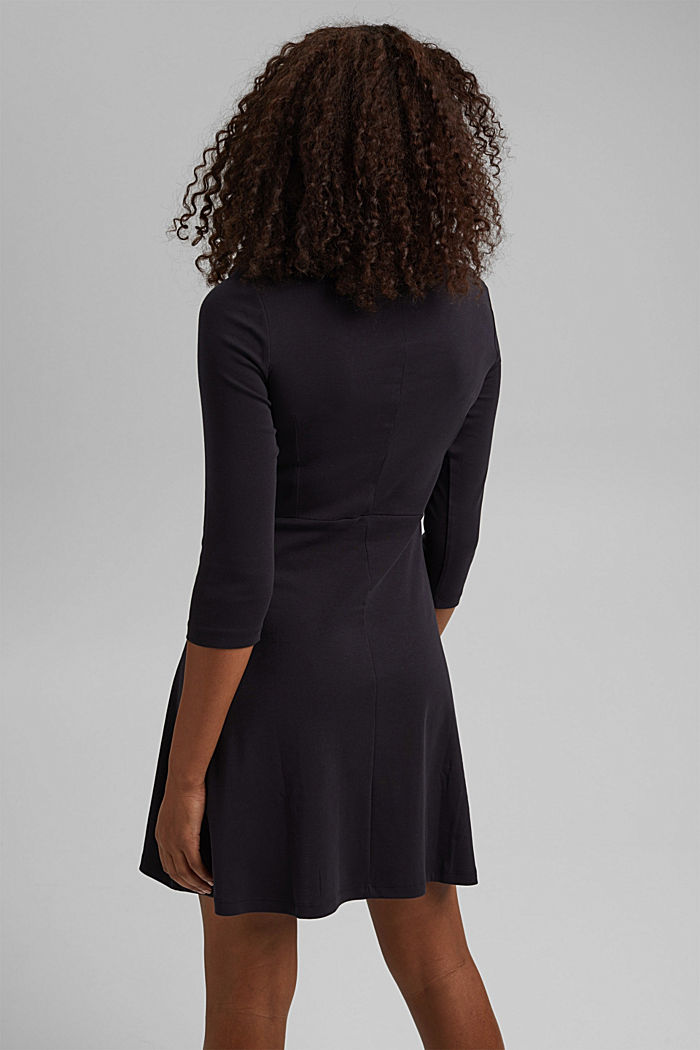 Jersey dress made of organic cotton, BLACK, detail image number 2