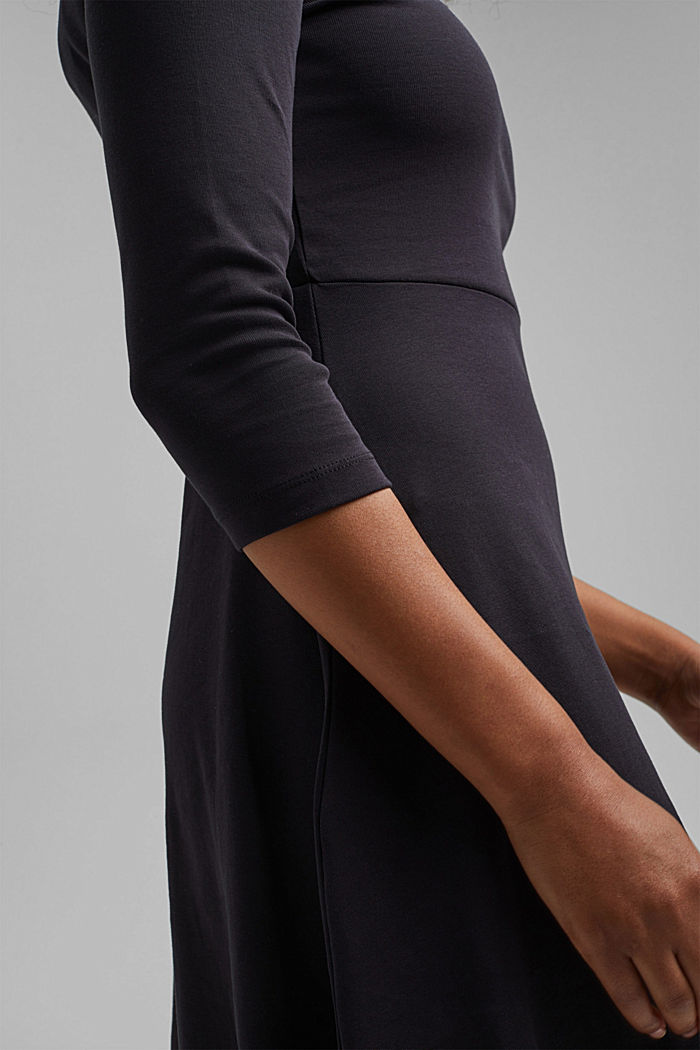 Jersey dress made of organic cotton, BLACK, detail image number 3