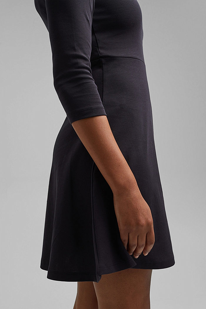 Jersey dress made of organic cotton, BLACK, detail image number 5