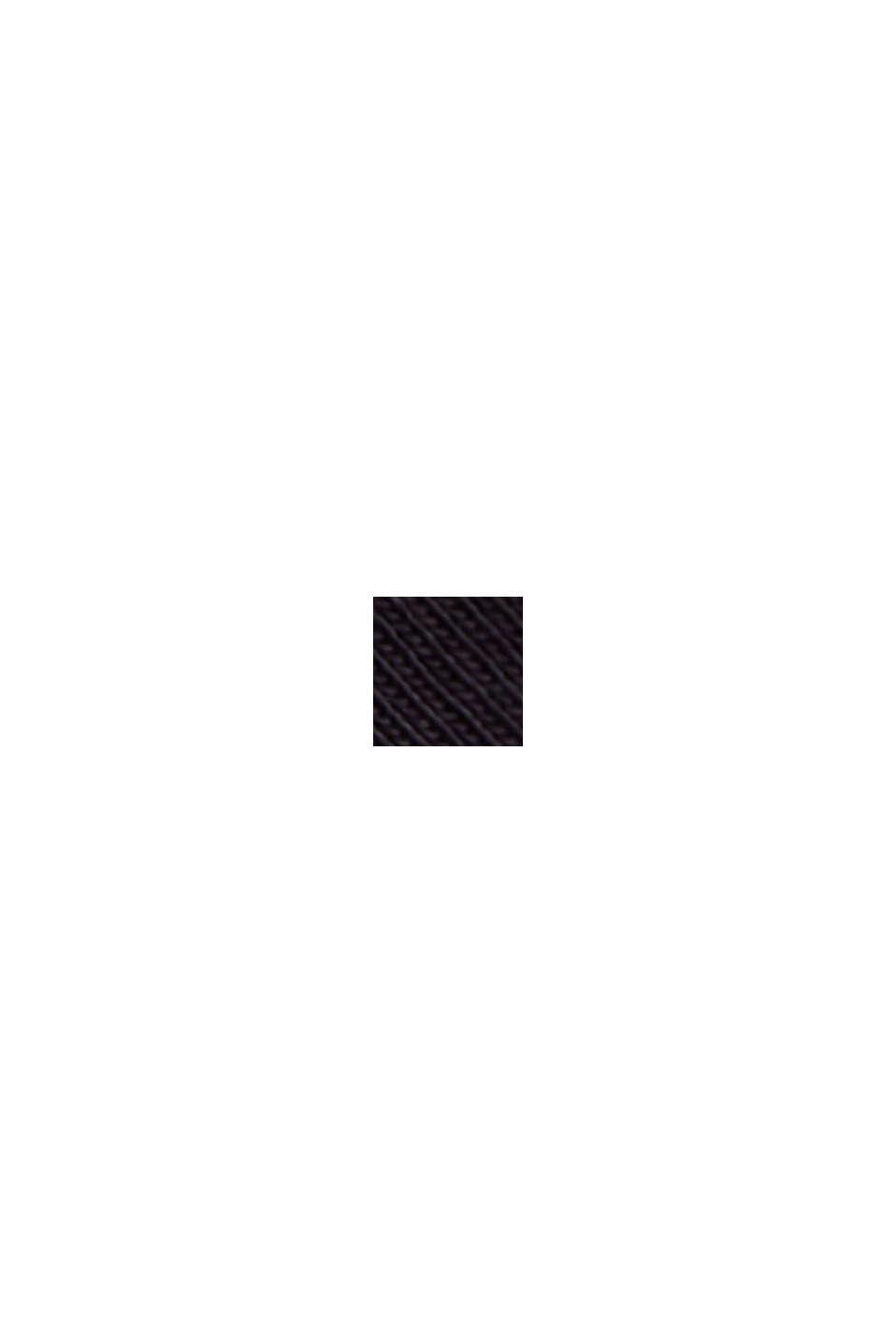 Jersey-Kleid aus Organic Cotton, BLACK, swatch