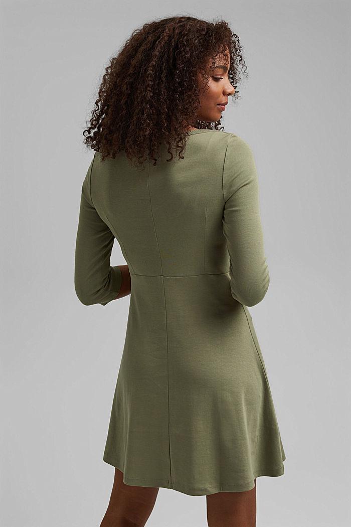 Jersey dress made of organic cotton, KHAKI GREEN, detail image number 2