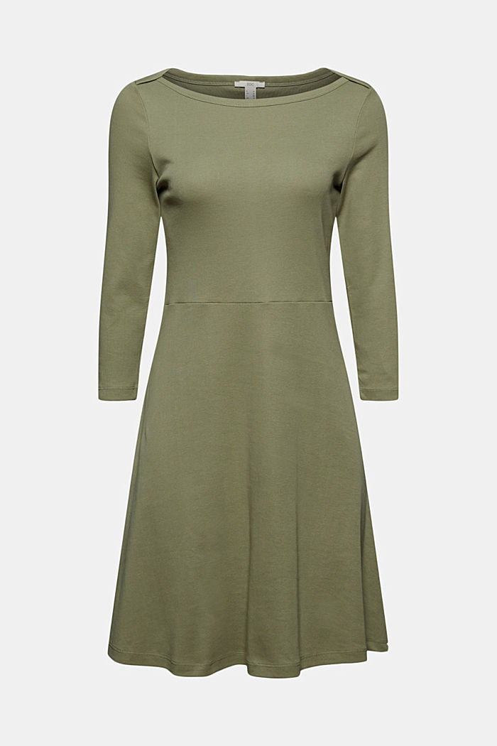 Jersey dress made of organic cotton, KHAKI GREEN, detail image number 5