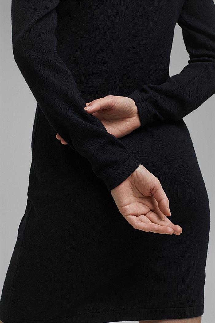 Robe-pull essentielle à teneur en coton biologique, BLACK, detail image number 3