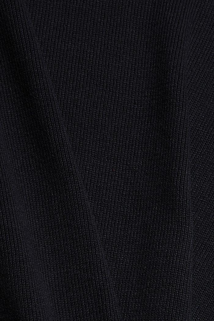 Robe-pull essentielle à teneur en coton biologique, BLACK, detail image number 4