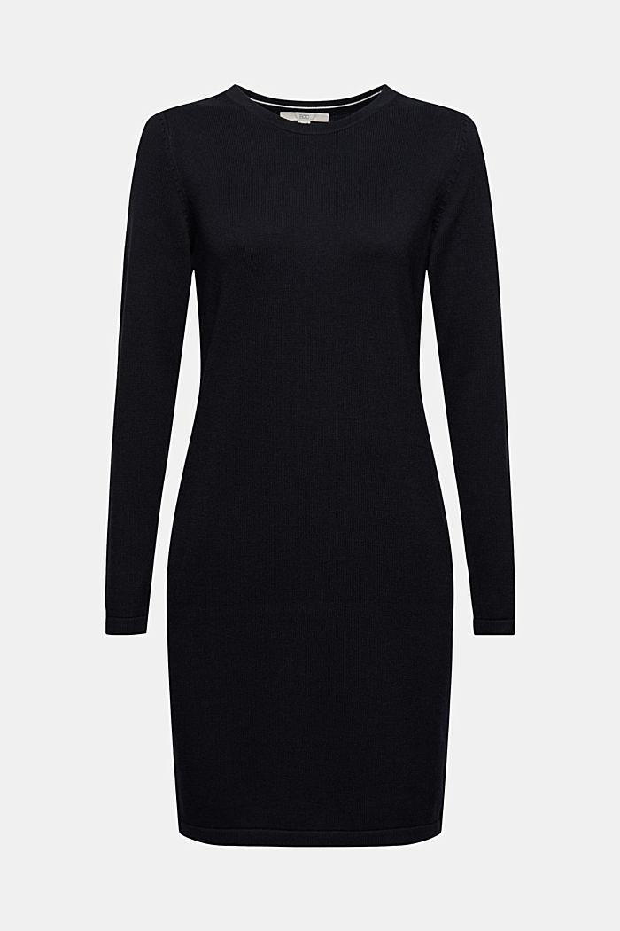 Robe-pull essentielle à teneur en coton biologique, BLACK, detail image number 6