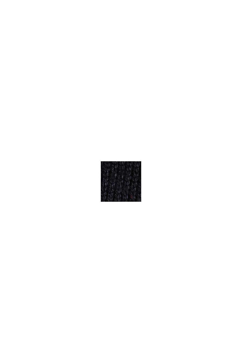 Essential Strickkleid mit Bio-Baumwolle, BLACK, swatch