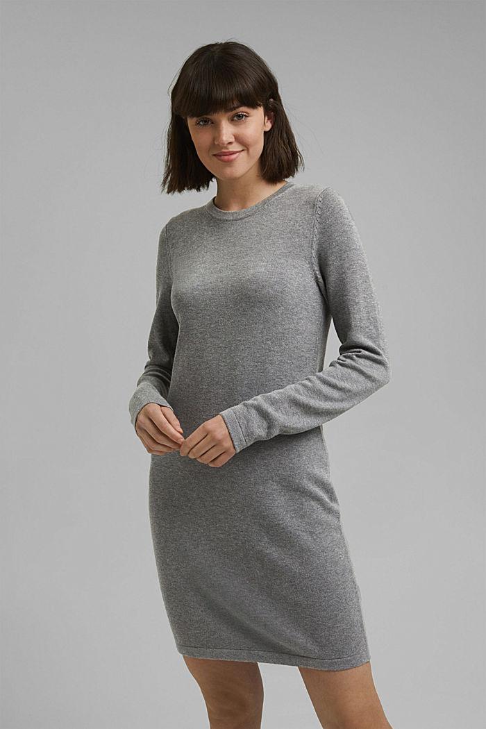 Robe-pull essentielle à teneur en coton biologique, MEDIUM GREY, detail image number 0