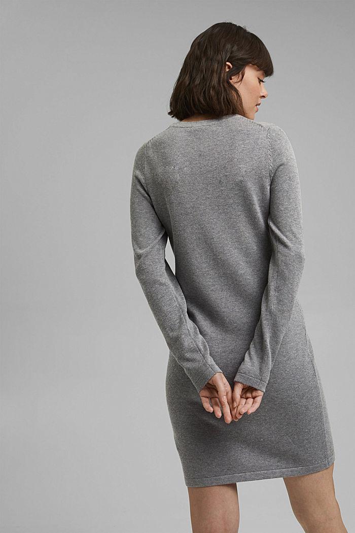 Robe-pull essentielle à teneur en coton biologique, MEDIUM GREY, detail image number 2