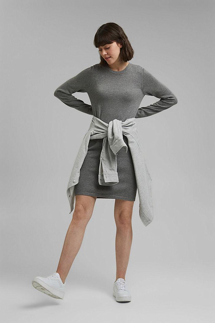 Robe-pull essentielle à teneur en coton biologique, MEDIUM GREY, detail image number 1
