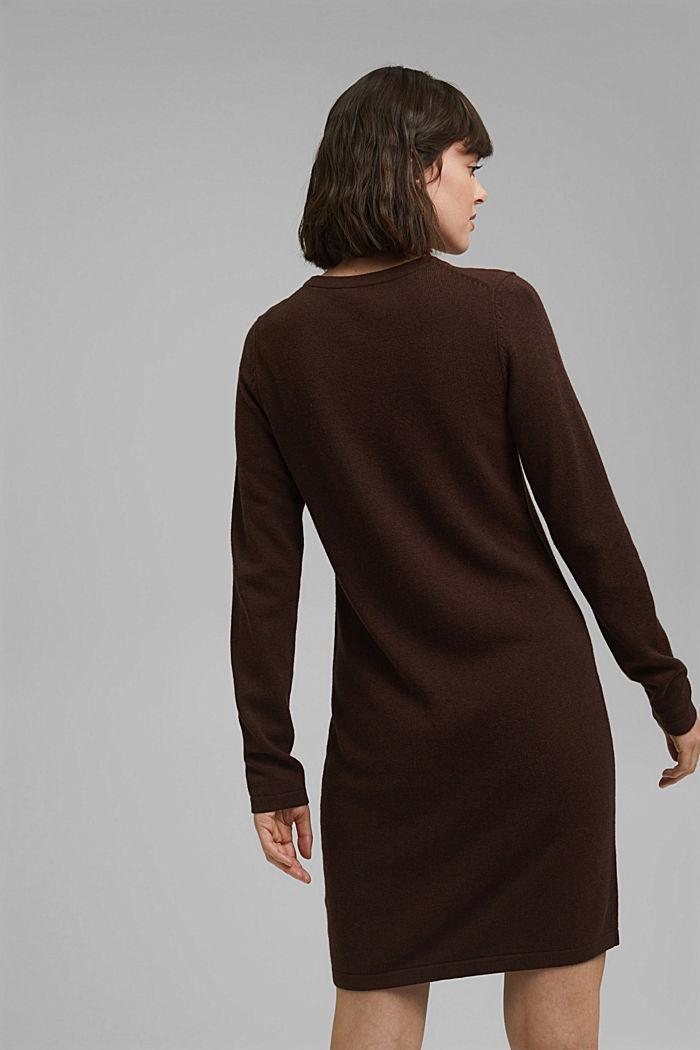 Robe-pull essentielle à teneur en coton biologique, BROWN, detail image number 2