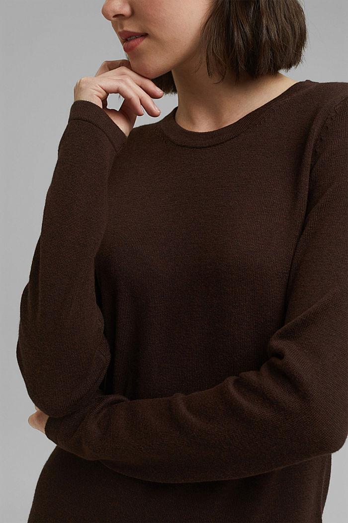 Robe-pull essentielle à teneur en coton biologique, BROWN, detail image number 3
