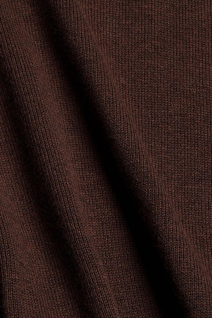 Robe-pull essentielle à teneur en coton biologique, BROWN, detail image number 4