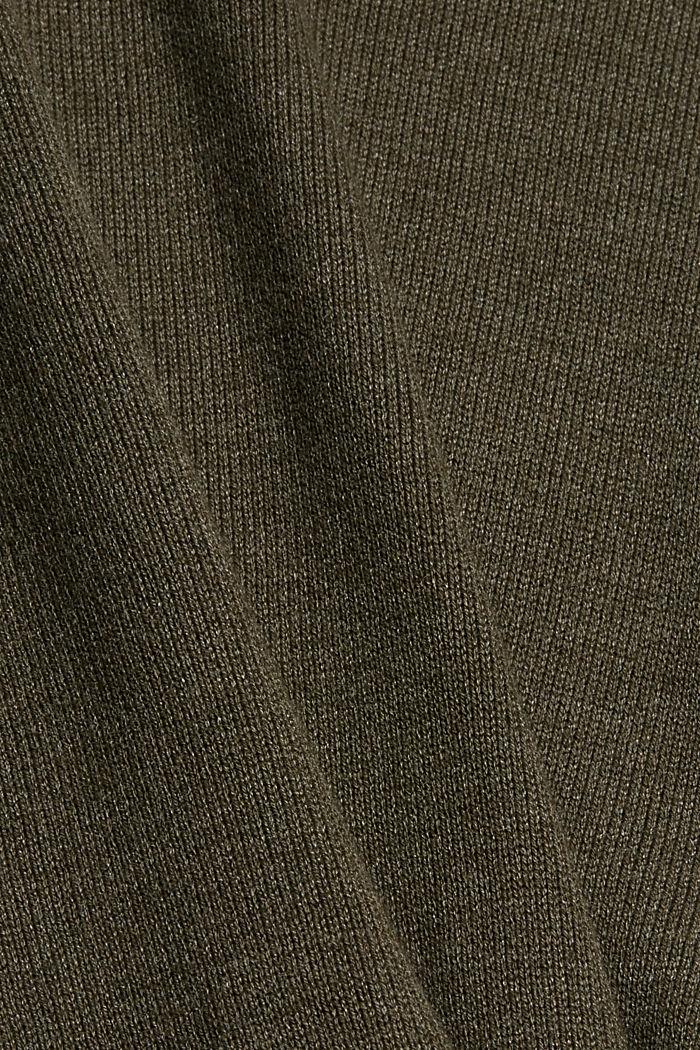 Perusneulemekko, sis. luomupuuvillaa, DARK KHAKI, detail image number 4