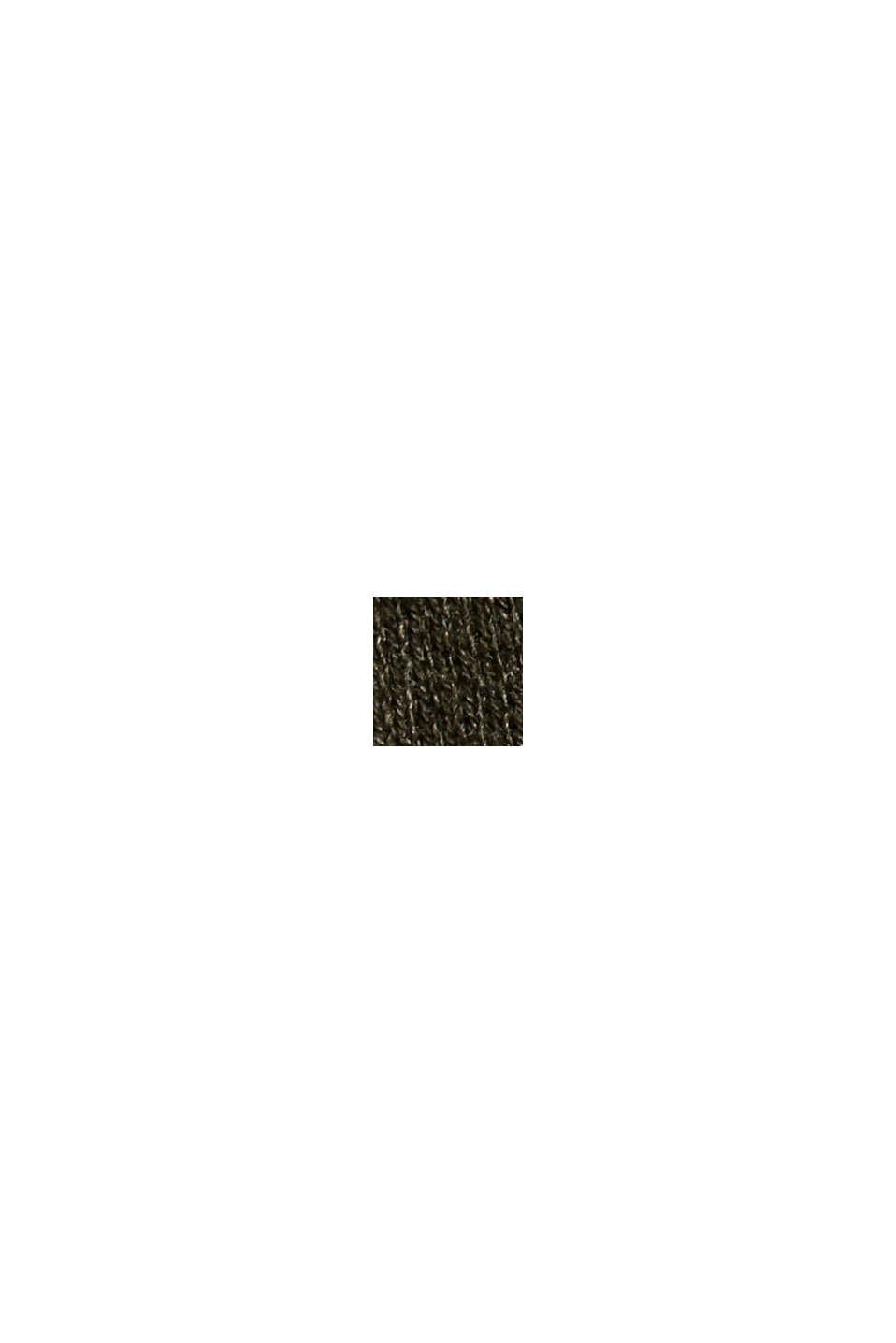 Essential Strickkleid mit Bio-Baumwolle, DARK KHAKI, swatch