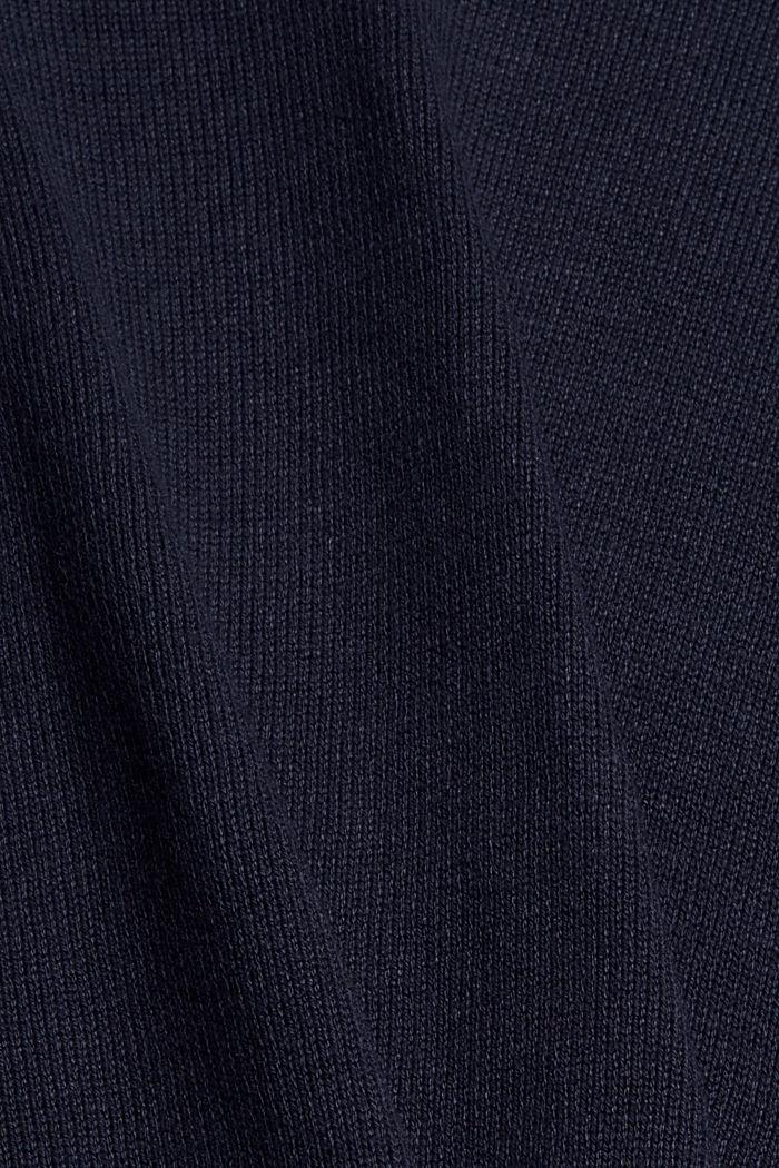 Niezastąpiona dzianinowa sukienka z bawełną ekologiczną, NAVY, detail image number 4