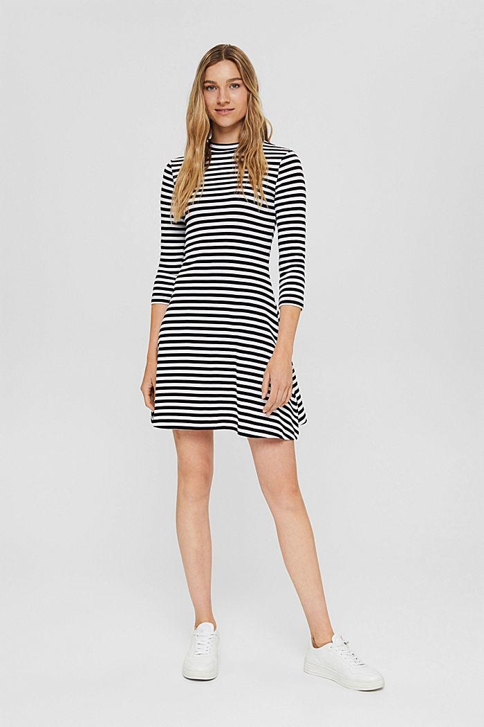 Jersey dress made of 100% organic cotton, BLACK, detail image number 1
