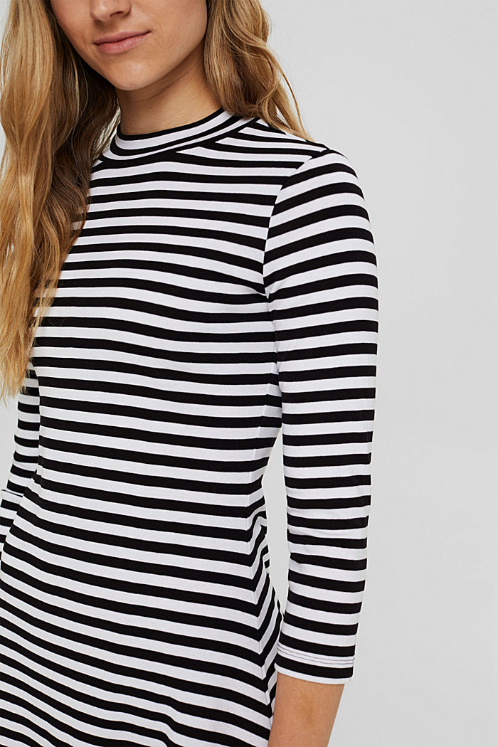 Jersey dress made of 100% organic cotton, BLACK, detail image number 3