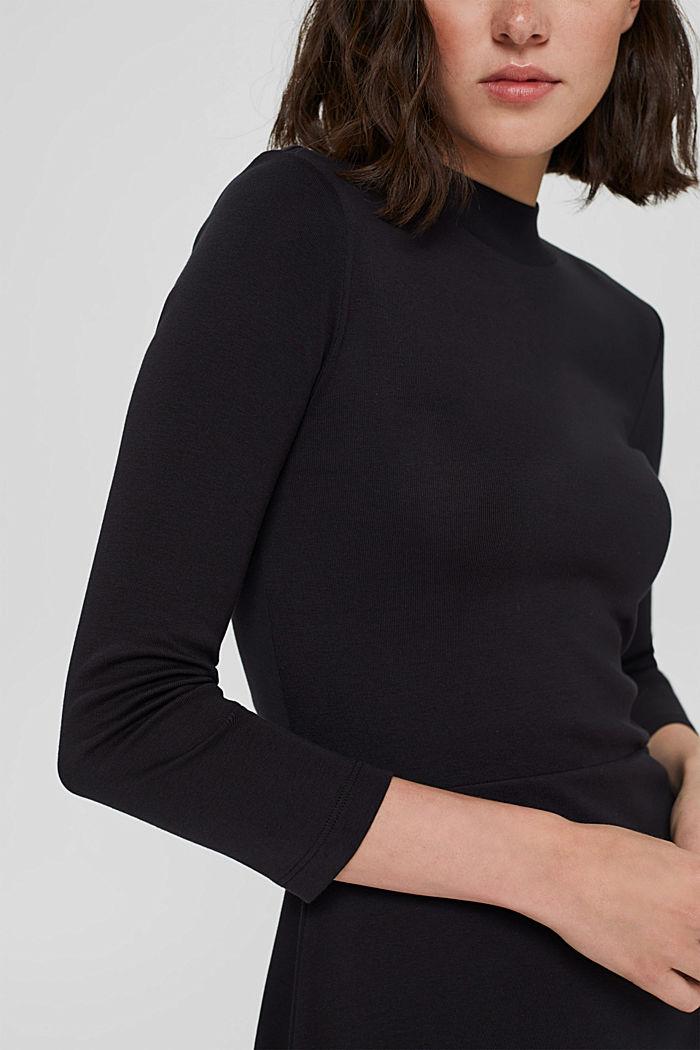Robe en jersey, 100% coton biologique, BLACK, detail image number 3