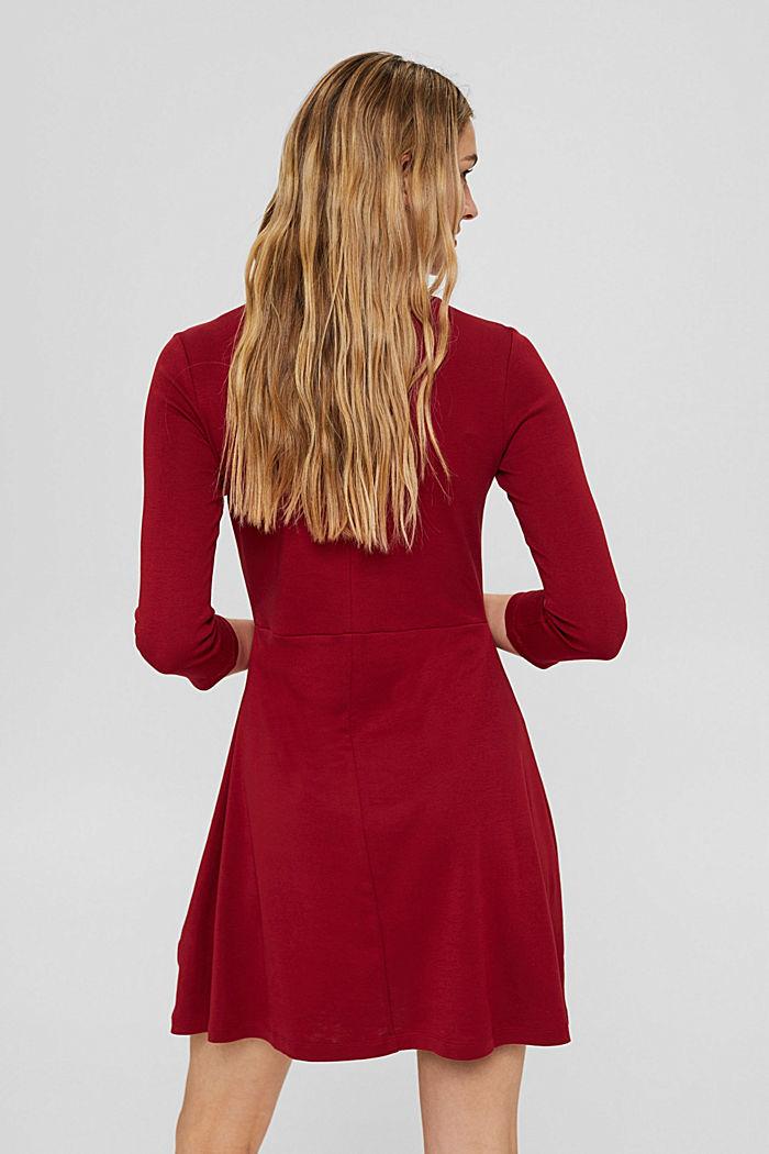 Jersey dress made of 100% organic cotton, DARK RED, detail image number 2